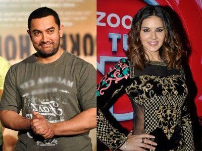Aamir Khan meets Sunny Leone in Delhi