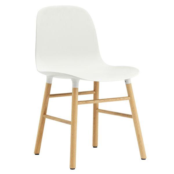 Form chair, white/oak