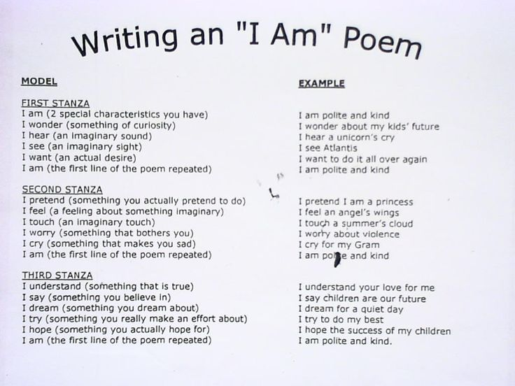 25+ best ideas about Poetry examples on Pinterest | I am poem ...