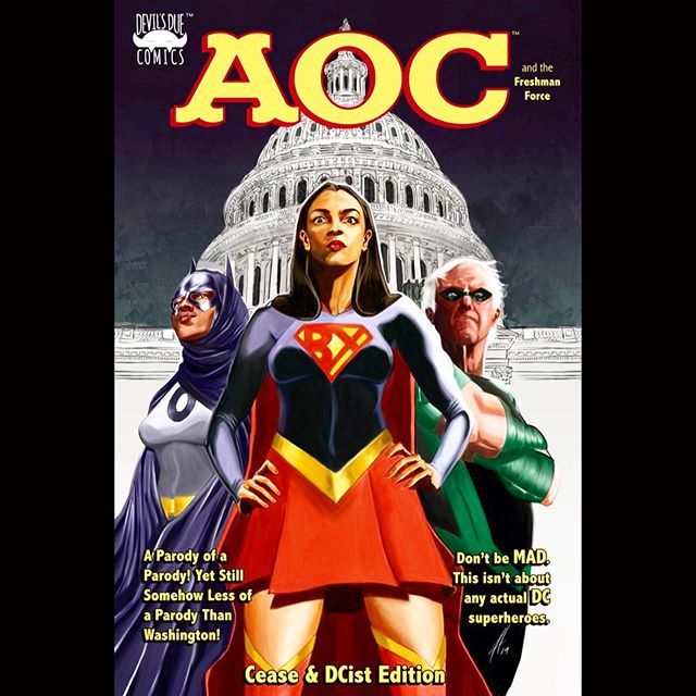 AOC ALEXANDRIA OCASIO CORTEZ FRESHMAN FORCE MAD MAX Comic Book Exclusive VARIANT
