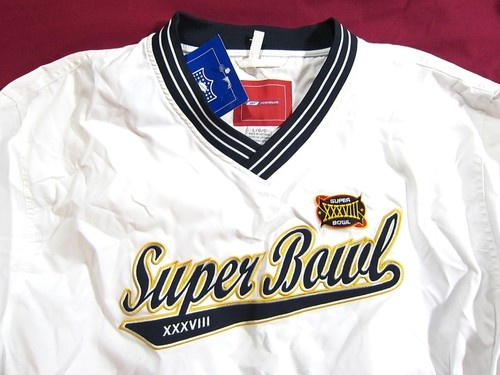 Super Bowl XXXVIII Super Bowl 38 Reebok Pullover Jacket White Large | eBay
