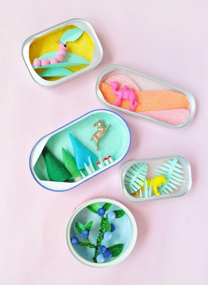 Mini Sardine Can Dioramas
