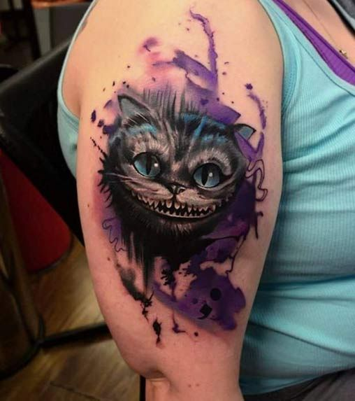 150+ Charming Alice in Wonderland Tattoo Designs awesome  Check more at http://fabulousdesign.net/alice-in-wonderland-tattoos/