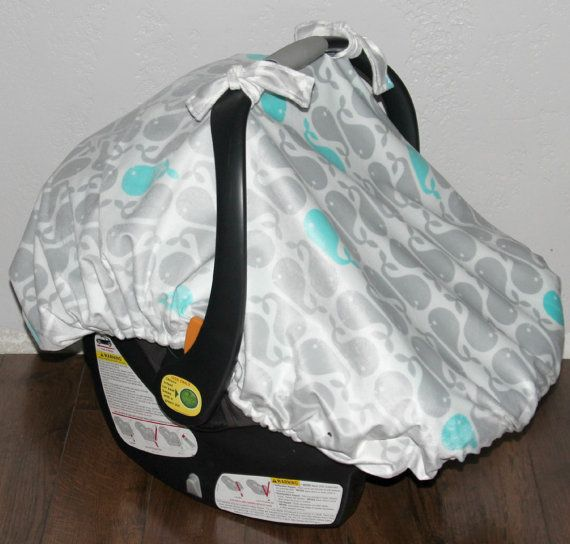 Fitted car seat canopy with elastic edge Car seat cover Whale Baby carrier canopy Baby carrier cover Blue car seat canopy & 83 best carseat canopy images on Pinterest | Car seats Baby baby ...