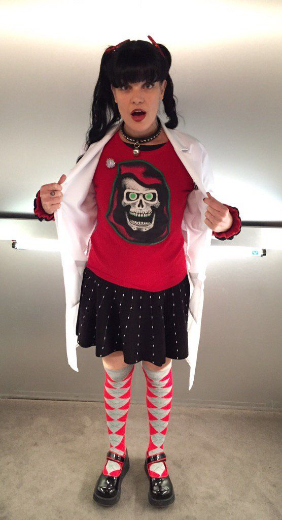"""It's that time again! You'll know what we are shooting at NCIS when you see Abby's outfit!"" ~ Pauley Perrette"