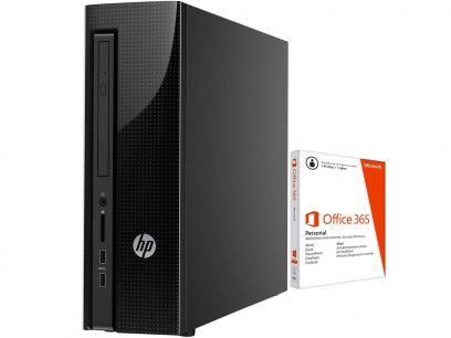 Computador HP 200 G1 Slim Tower Intel Celeron - 4GB 500GB Windows 10 + Pacote Office 365 com as melhores condições você encontra no Magazine 233435antonio. Confira!