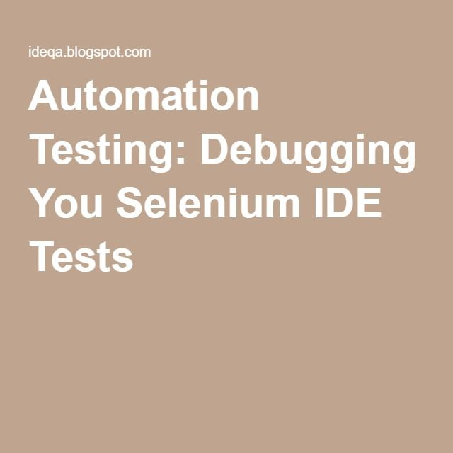31 best automation testing qa selenium images on pinterest automation testing manual testing the art that cannot be lost fandeluxe Image collections