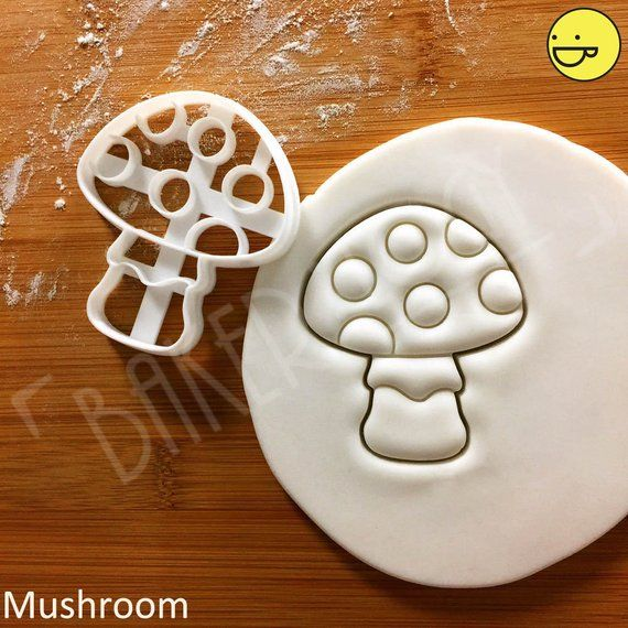 3 Sizes Mushroom Fondant Biscuit Toadstool Cookie Cutter