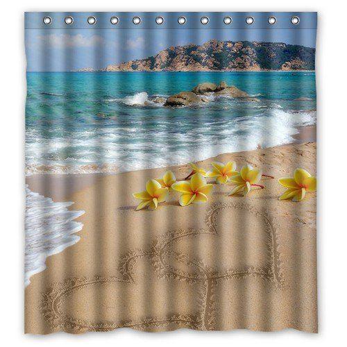 Futefew arredo bagno personalizzato bel Design Fiore I love you per tenda da doccia modello spiaggia mare 167,64 cm x 182,88 cm - tenda da doccia in tessuto poliestere impermeabile super soft - Telo da bagno grande per gli amici-regali-Regalo Per St, Patrick's day-regalo di compleanno