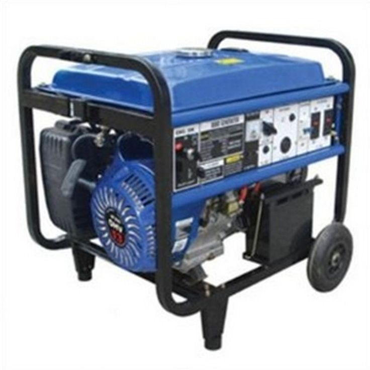 Blue Max 8000 Watt Industrial Generator | Mutton Power Equipment  This Blue Max 8000 watt Industrial Generator will help you meet allof your backup power needs. This generator provides quick and reliable powerwith a large fuel tank and a long running time.  - 13 hp Air-cooled Engine - Noise Level: 74.5 dB - Fuel Capacity: 5.6 gallons - EPA Approved - Recoil starting system - Electric start
