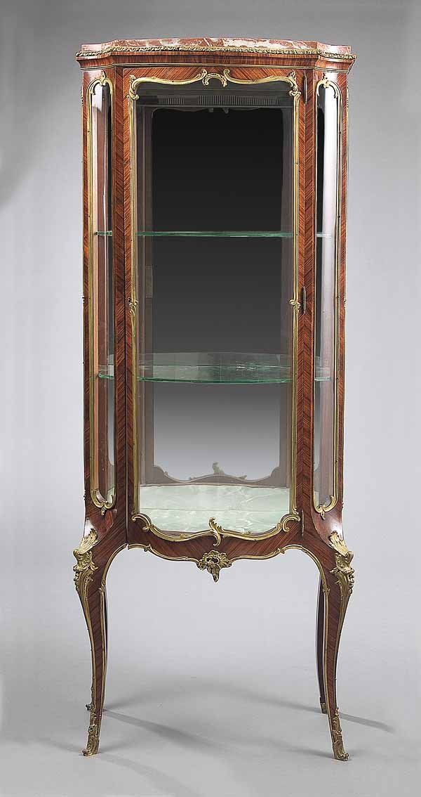 0228: Louis XV-Style Rosewood Vitrine : Lot 228