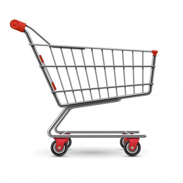 Carrito De Compras De Supermercado Vacio Premium Vector Freepik Vector Venta Caja C Carros De Compras Carritos De Supermercado Diseno De Supermercado