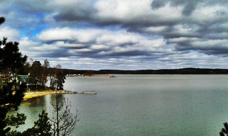 Seizing the moment of beauty at Hvitträsk Lake, Finland