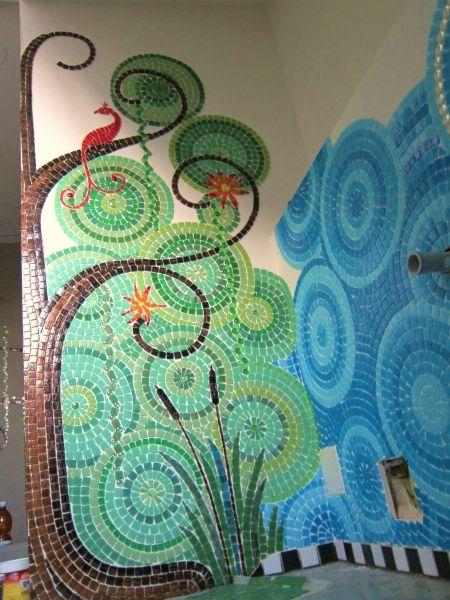 Mosaic Bathroom WIP by Frances Green
