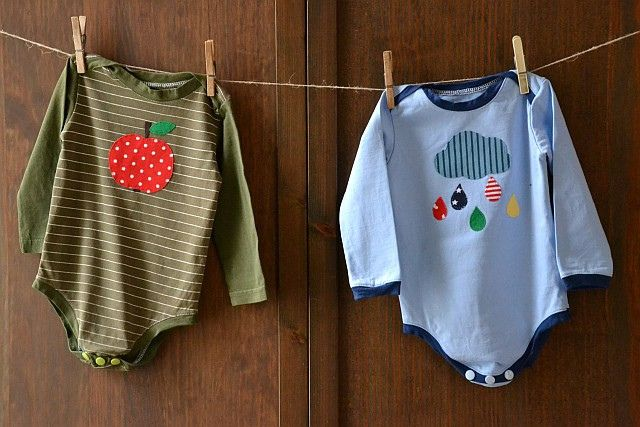 Babybodies aus alten Erwachsenenshirts