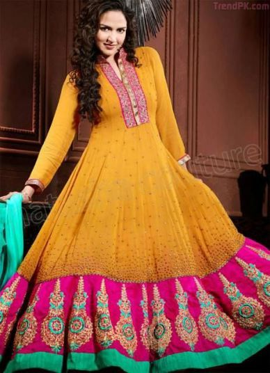 Natasha Couture Designer Esha Deol Salwar Suits 2014 by Anarkali 3