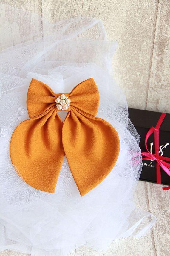 Camel Matte Women's Bow Tie Genuine New #BowsByVaniaSzasz #etsy #handmade