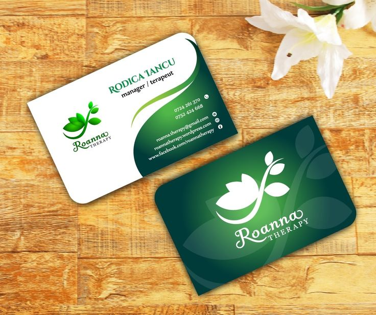 Project: Business card / Client: Roanna Therapy - A project like this costs only 70 lei / $ 18