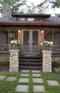 Bay Lake Cabin - traditional - porch - minneapolis - Albertsson Hansen Architecture, Ltd