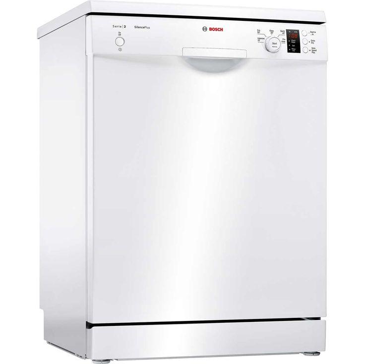 Bosch Serie 2 Sms25aw00g Standard Dishwasher White A Rated Freestanding Dishwashers White Appliances Black Dishwasher