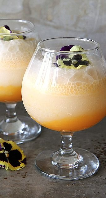 Apricot Coconut Prosecco Punch. Use ginger ale or sparkling cider instead of Prosecco for a non alcoholic drink.