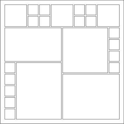 Mosaic Moments Page Pattern 19 / Checker Inset Border