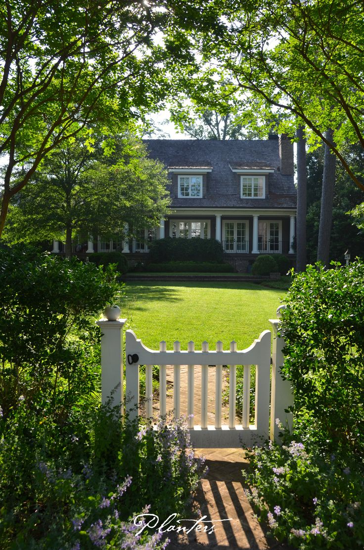 Landscape architect atlanta ga -  Wood Gate Has An Inkberry Holly Ilex Glabra Fence On Either Side And An Entrance Path Softened With Catmint Nepeta Walkers Low A Planters Design