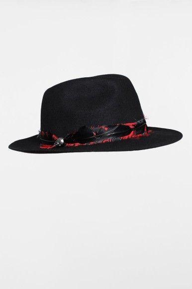 Zadig & Voltaire chapeaux panama noir plumes