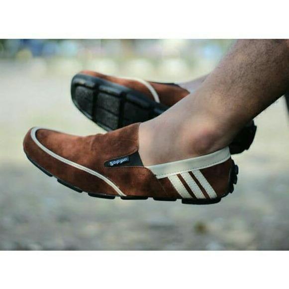 Belanja Sepatu Pria Slip On Motif A Indonesia Murah Belanja Slip