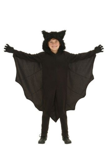 Look who just popped out of the darkness. This Child Fleece Bat Costume is perfect for young bat lovers.