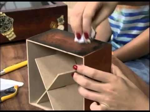Caixa de Relógio - Artesã Marisa Magalhães - Aquarela Brasil Tintas - parte 2/2 - YouTube