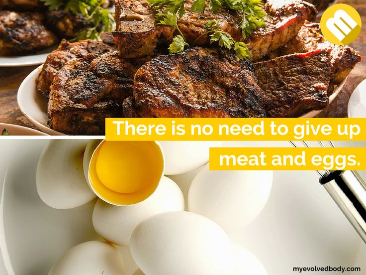 Yes, there is no need to give up meat and eggs. Why would you? Those are a great source of protein. #healthychoices #health  #postworkout #bodybuilding #water #diet #nutrition #healthy