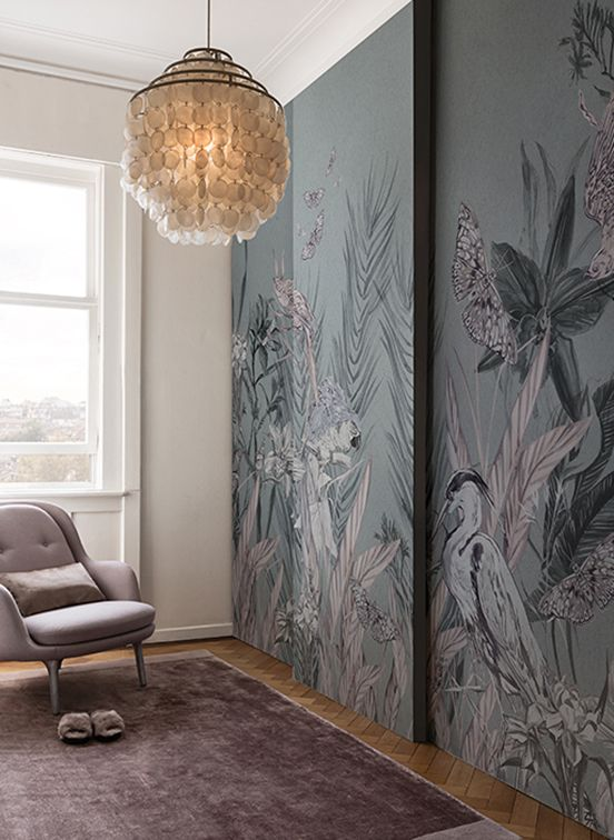 Gorgeous Wallpaper by @wallanddeco |Wallpaper. Colour Trends. Interior Design. |More inspiration at http://brabbu.com/moodboards/?utm_source=pinterest&utm_medium=ambience&utm_content=dmartins&utm_campaign=Pinterest_Inspirations