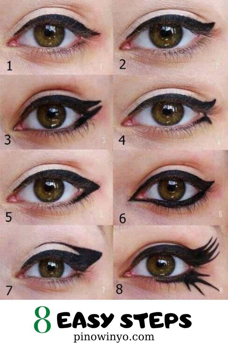 Eye Makeup For Tired Eyes Tips  Eyeliner designs, Makeup eyeliner