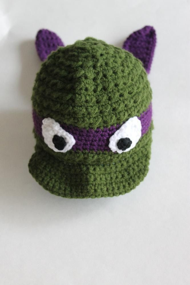 1512d47d9c7 Ninja Turtle Newsboy AND Beanie Hat Crochet pattern by Stay Home Stitchings