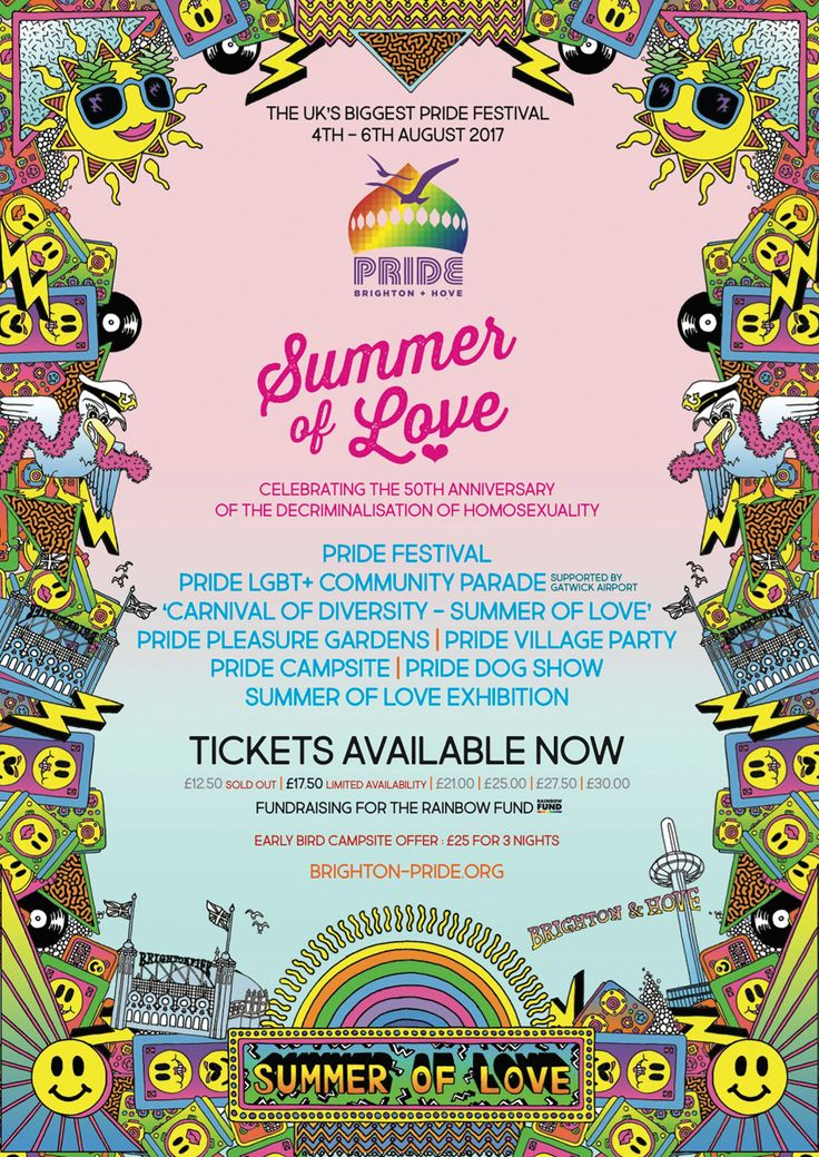 It's one of the most important dates in the LGBTI calendar – and tickets are now on sale for this year's Brighton Pride Summer of Love.