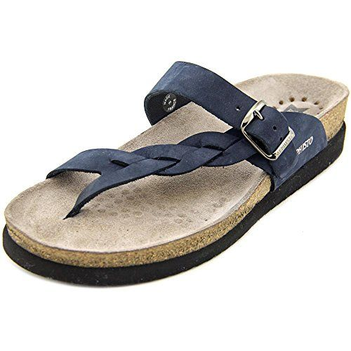 Mephisto Womens Helen Twist Flip Flop Navy Nubuck 8 M US -- Read more  reviews