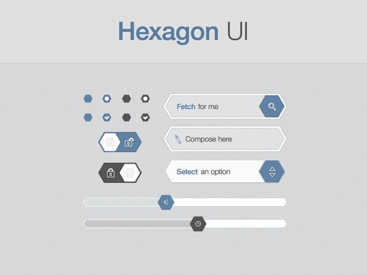 Hexagon UI | Preview by Eric BARBEAU