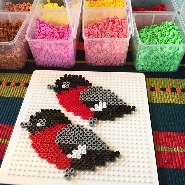 """Pyssellördag! #panduro #panduropyssel #hama #domherre"" Photo taken by @pandurohobby.se on Instagram, pinned via the InstaPin iOS App! http://www.instapinapp.com (10/17/2015)"
