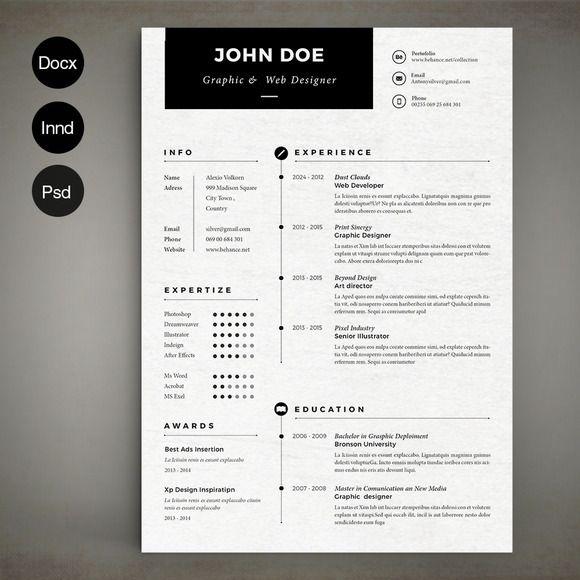 Simple Resume by Estartshop on Creative Market