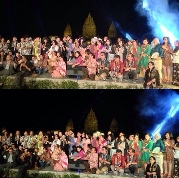 All #APSDA2014 delegates, professionals and students taking a group photo with Prambanan Temple as a background. #livefromapsda2014 #mysticaldesign #farewellparty