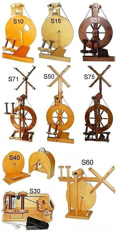 Louet spinning wheels and accessories