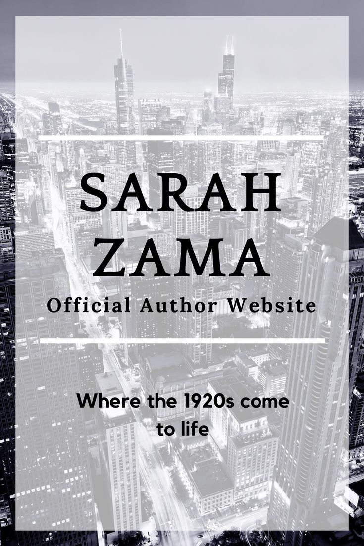 Sarah Zama is a writer of speculative fiction set in the 1920s. A time of great excitment and change. This is what her stories tell
