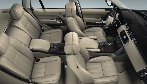 Almond interior with espresso accents inside the - Range rover sport almond interior ...