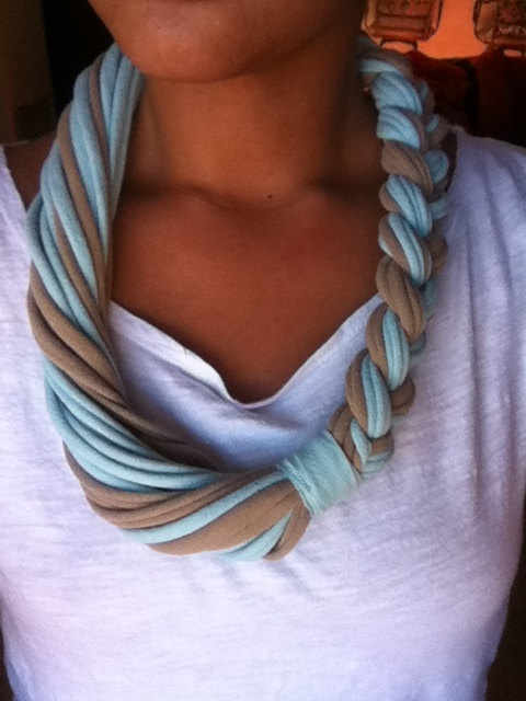 Long Braided Tshirt Necklace   by LoveMami on Etsy, $18.00