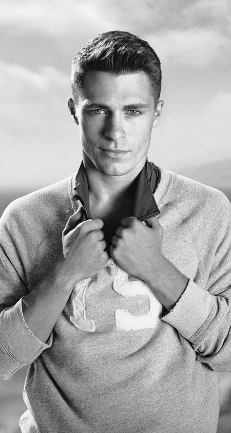 Colton Haynes (model / actor; 'Teen Wolf' & 'Arrow') in Abercrombie & Fitch, SPRING 2014, profile | Photography by Bruce Weber | The Sitch on Fitch | http://anfnewsnow.blogspot.com/2014/01/abercrombie-fitch-spring-2014-profiles.html