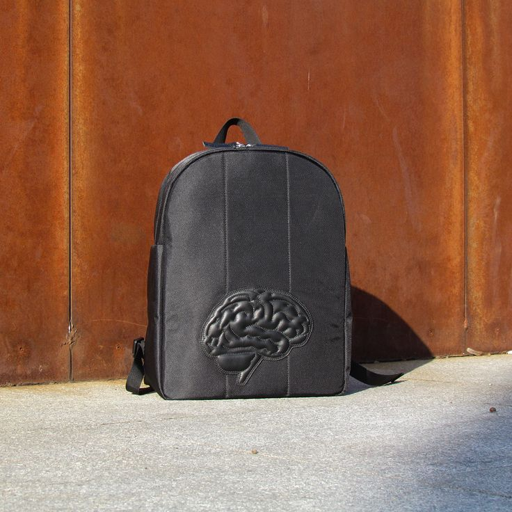 snob. 2017 All Black Collection - leather and nylon - brain backpack