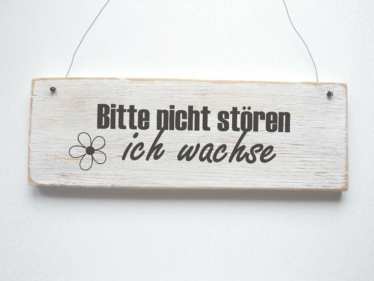 BITTE NICHT STÖREN, ICH WACHSE Türschild von DÖRPKIND auf DaWanda.com  Mehr Schilder auf www.doerpkind.de