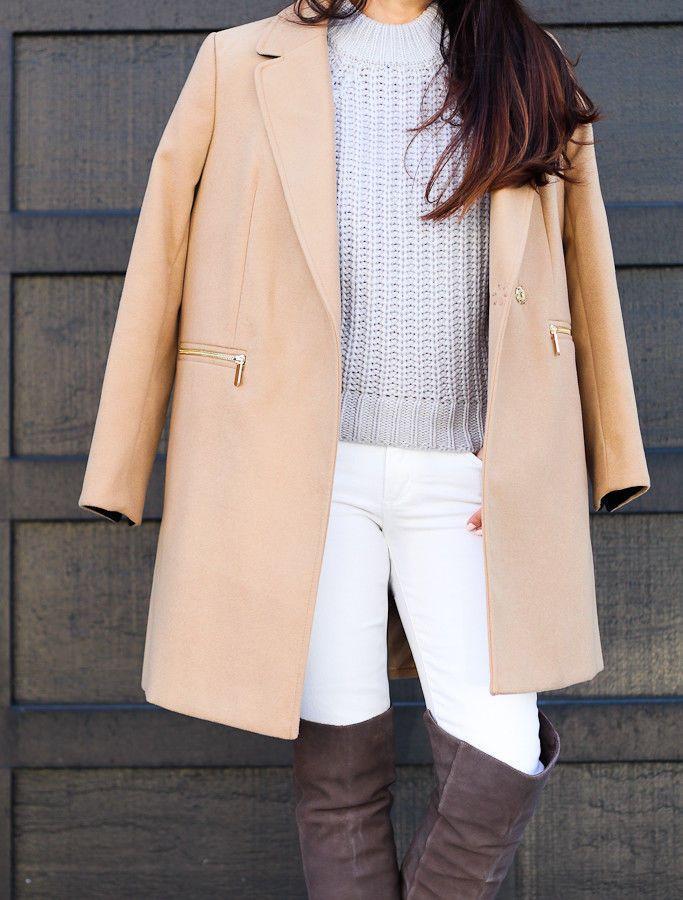 Topshop Petite Camel Beige Slim Fit Meg Pocket Boyfriend Jacket Coat 6 - 16