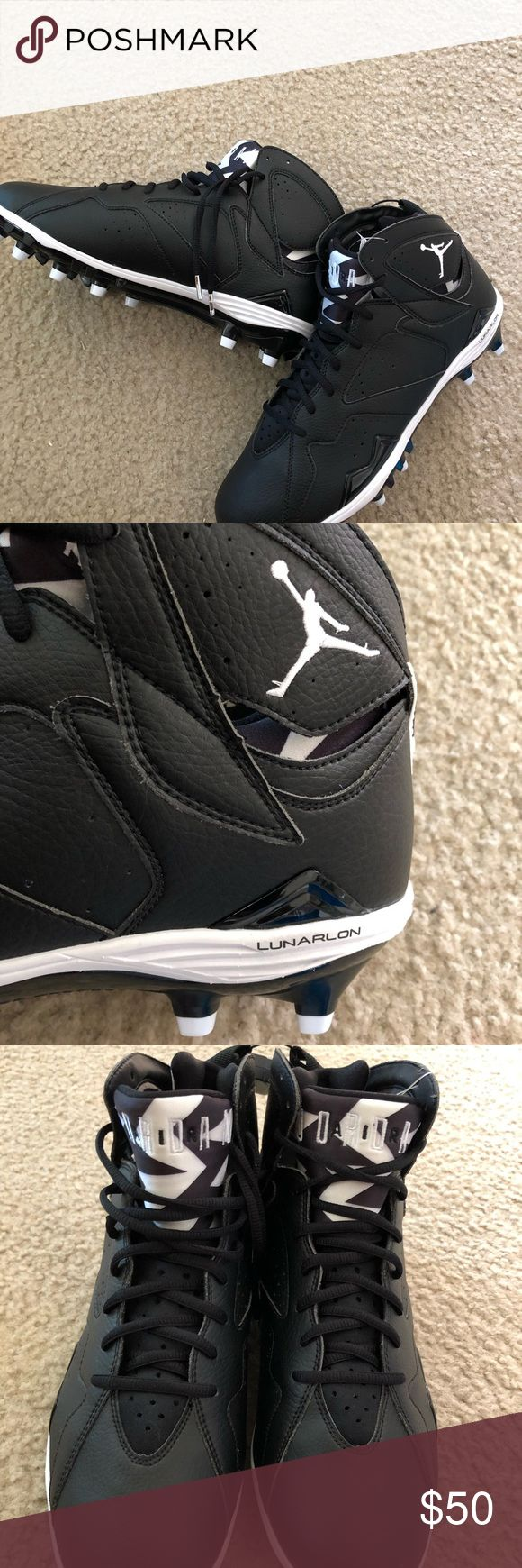 Air Jordan Retro 7 Football Cleat Size 12 Air Jordan's Retro 7 Black Oreo  Size 12  Brand New  Doesn't come with a box Jordan Shoes Athletic Shoes